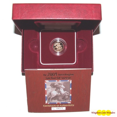 2004 Gold Proof 1/2 Sovereign